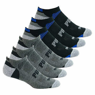 Puma Men's 6 Pack Pairs No Show Socks Available In Black Or White New!!