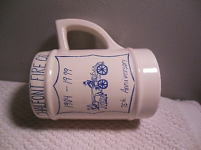 Beer Mug Chalfont Fire CO.Anniversary 1979 Vintage 6 Inch
