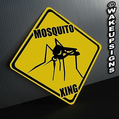 MOSQUITO CROSSING SIGN ALUMINUM metal collectible funny novelty insect camping