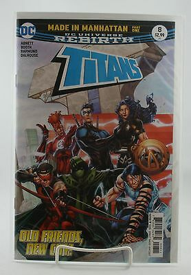 Titans #8! 1st Print! Unread! DC! Rebirth! Abnett Booth Rapmund! NM! 2017