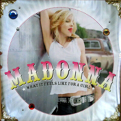 Rare Madonna What It Feels Like For A Girl CD Single Maverick Promo Poster 2001