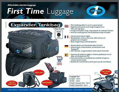 New Oxford First Time Expander Tank Bag Magnetic 38 Litres OF412