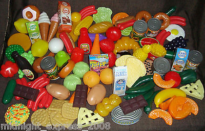 120 Piece Huge Childrens Pretend Play Food Set Role Play New