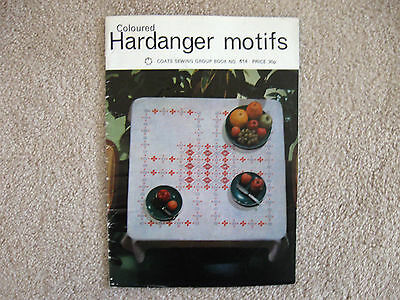 Vintage Coloured Hardanger Motifs Pattern Book Coats Sewing Group Book No. 614