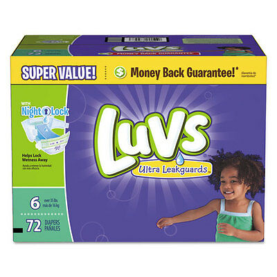 Luvs Diapers Pampers w/Leakguard, Size 6 72ct