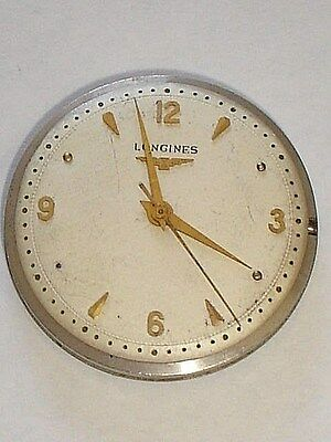 LONGINES  23ZS Watch Movement 17j with Dial & Hands , Used to Fix/Parts