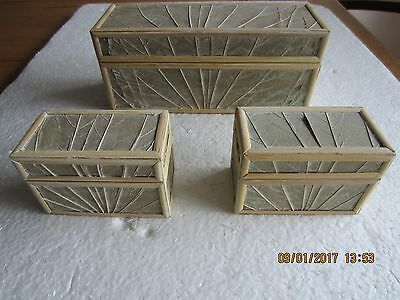 Small Leaf Covered Trinket Boxes X 40 Units(120 Boxes)