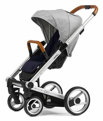 BRAND NEW - Mutsy Igo Urban Nomad Stroller in White & Blue with Silver