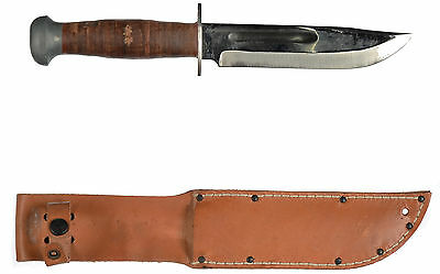 PAL RH36 Fighting Knife WWII Unissued W Brown Leather Sheath Excellent Condition