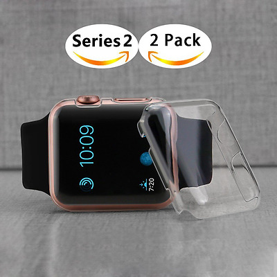 Apple Watch 2 (42mm) Screen Protector Hard Ultra Thin All-Around Case 2 PACK NEW