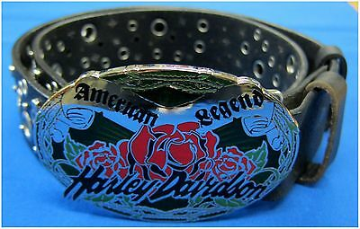 """Harley-Davidson New Ladies Big Buckle  Belt  Size Small  27-1/2"""" to 31-1/4"""""""