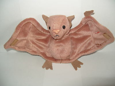 Nwt Ty Beanie Baby Batty - The Bat Brown Body - Made In Indonesia