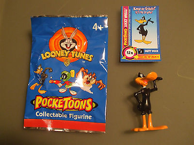 New looney tunes Pocketoons Daffy Duck cake topper figurine