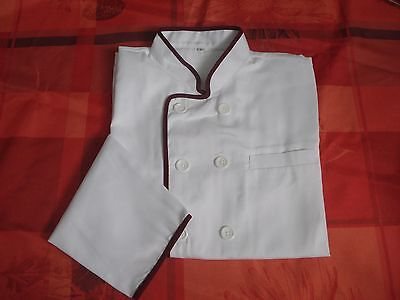 Pack of 4 Chefs Jackets Unisex Long Sleeves White New Chef Uniform Whites Joblot
