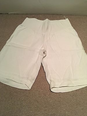 Blooming Marvellous White Linen Shorts Size 8