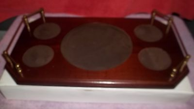 """Modern Wedgwood wood serving tray for bar or snacks 9 1/2"""" X 17"""""""