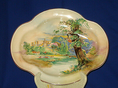 "Royal Doulton ""Summertime in England"" Serving / Cabinet Dish / Platter"