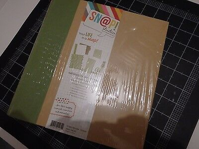 SN@P 6x8 binder bnip green with inserts scrapbooking album