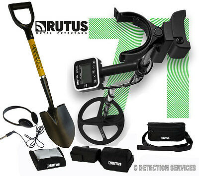 "metal detector Rutus ALTER 71 metal detector Motion Non-Motion Dual Mode 11""DD"