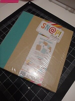 SN@P 6x8 binder bnip teal with inserts scrapbooking album