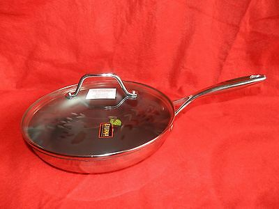"Princess House Stainless Steel  Nonstick 10"" Skillet. # 6897 New!!!!"