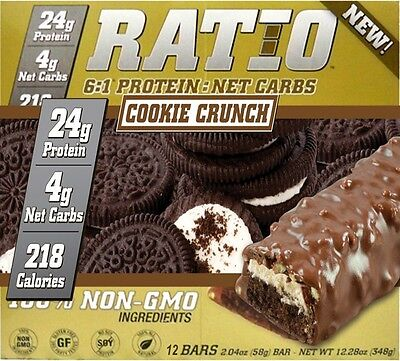 Ratio Protein Bar Cookie Crunch 52g X 12