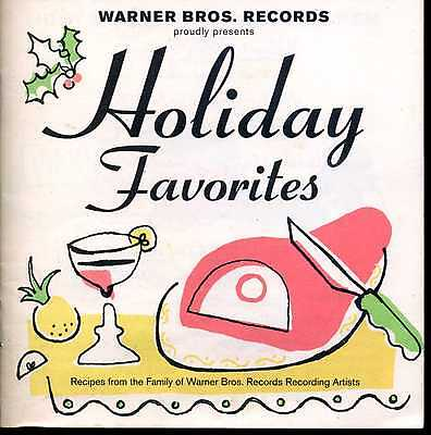 """Warner Bros Holiday Favorites"" VINTAGE promo RECIPE BOOKLET Biz Markie,Madonna+"