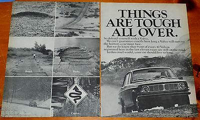 1970 144 Sedan For Crummy Roads Canadian Ad - Things Are Tough All Over - Retro