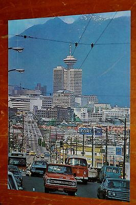 70S Photo Vancouver B.c. Old Cars 1968 Fairlane Chevy Pickup Vw Bus City Flyer