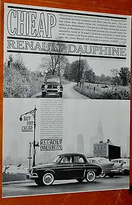 Neat 1960 Renault Dauphine American Cheap But Not Cheap Ad -  French Auto 60S