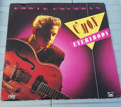 "Eddie Cochran - C'Mon Everybody 12"" Vinyl Single 1950s Rock n Roll"