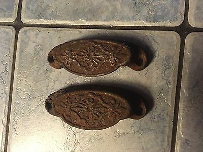 Antique Cast Iron Bin Pulls