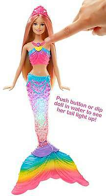 Barbie Rainbow Lights Mermaid Doll Girls Gift New 2017