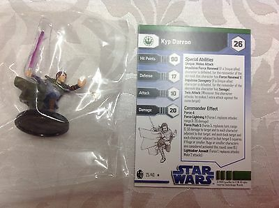 Star Wars Kyp Durron #25/40 new in bag with stat card