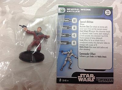 Star Wars General Wedge Antilles #35/60 new in bag with stat card