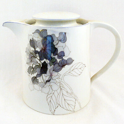 Hydrangea Block Tea Pot NEW NEVER USED designer Lou Goetzer made in Portugal