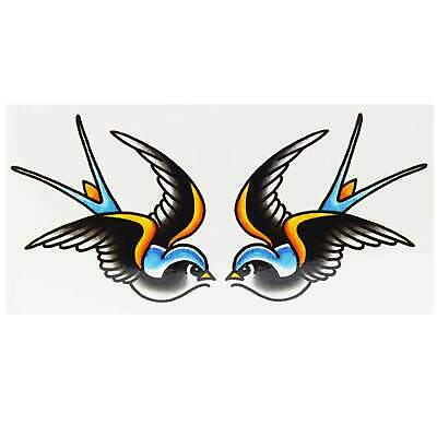 Classic Swallows Temporary Tattoo By Tim Hendricks Rockabilly Classic Flash