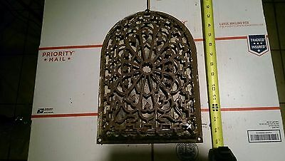 Cast Iron Heating Grate Ornate Decorative Antique Authentic Collectible