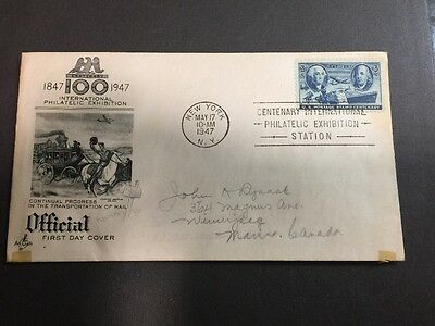 Centenary International Philatelic Exhibition Official First Day Cover FDC 1947