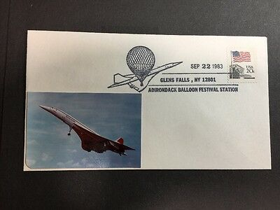 ADIRONDACK Balloon Festival Station Cover 1983 with Picture Attached! USA
