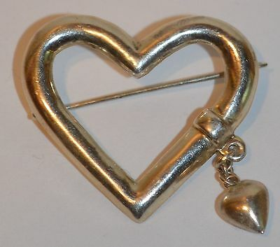 Heart Brooch by MKV Sterling Silver .925% See Pictures.