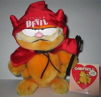 "GARFIELD Little Devil Plush 9"" 1981 Dakin w/ Tags Valentines"
