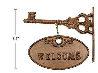 Cast Iron Welcome Sign Wall Plaque. Vintage Design
