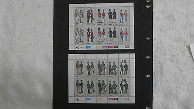 South Africa Ciskei  Military Uniforms Sheets - Series 1 1983 &  Series 2 1984