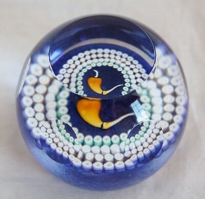 Caithness Whitefriars Sherlock Holmes Glass Paperweight 1987 millefiori faceted