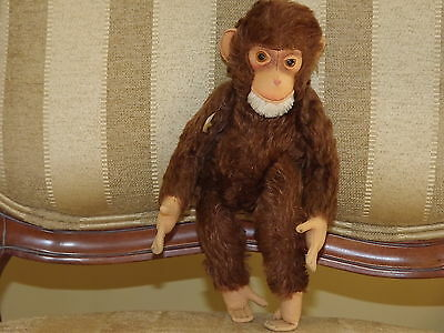 Steiff Monkey Made in US Zone Germany 12 in.