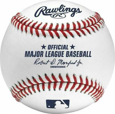 (6) Rawlings Official Major League MLB Baseball Manfred Boxed Half Dozen