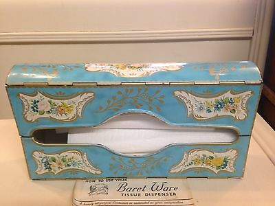 Vintage Baret Ware CHELSEA Metal TISSUE HOLDER Dispenser Box England Tin