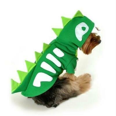 Anit Accessories Green Skeleton Dinosaur Dog Costume - Small. Very High Quality