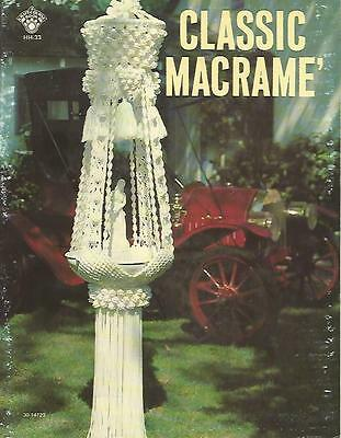 Classic Macrame Instruction Patterns Vinage Birdcage Tables 1978 Booklet USED
